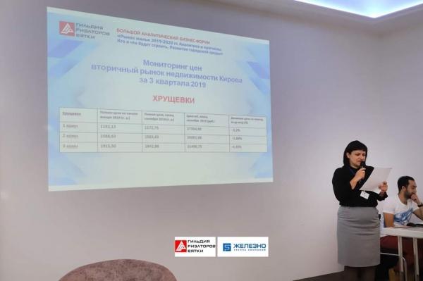 Карина Себелева, учредитель компании «Регистрационное бюро» на большом аналитическом форуме в Кирове